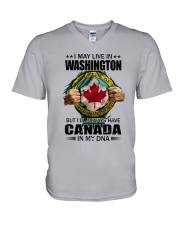 LIVE IN WASHINGTON CANADA IN MY DNA V-Neck T-Shirt thumbnail
