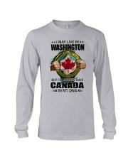 LIVE IN WASHINGTON CANADA IN MY DNA Long Sleeve Tee thumbnail