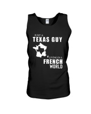 JUST A TEXAS GUY LIVING IN FRENCH WORLD Unisex Tank thumbnail