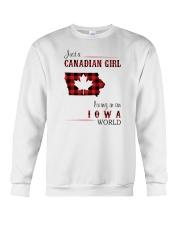 CANADIAN GIRL LIVING IN IOWA WORLD Crewneck Sweatshirt thumbnail