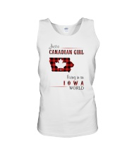 CANADIAN GIRL LIVING IN IOWA WORLD Unisex Tank thumbnail