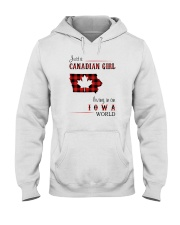 CANADIAN GIRL LIVING IN IOWA WORLD Hooded Sweatshirt thumbnail