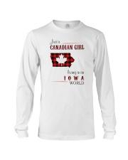 CANADIAN GIRL LIVING IN IOWA WORLD Long Sleeve Tee thumbnail
