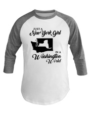 JUST A NEW YORK GIRL IN A WASHINGTON WORLD Baseball Tee thumbnail