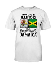 LIVE IN ILLINOIS BEGAN IN JAMAICA Classic T-Shirt tile