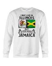 LIVE IN ILLINOIS BEGAN IN JAMAICA Crewneck Sweatshirt thumbnail