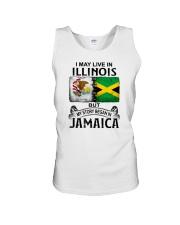 LIVE IN ILLINOIS BEGAN IN JAMAICA Unisex Tank thumbnail