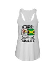 LIVE IN ILLINOIS BEGAN IN JAMAICA Ladies Flowy Tank thumbnail