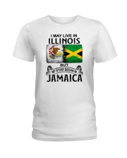 LIVE IN ILLINOIS BEGAN IN JAMAICA Ladies T-Shirt thumbnail