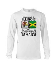 LIVE IN ILLINOIS BEGAN IN JAMAICA Long Sleeve Tee thumbnail