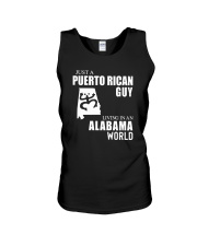 JUST A PUERTO RICAN GUY LIVING IN ALABAMA WORLD Unisex Tank thumbnail