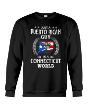 PUERTO RICAN GUY IN CONNECTICUT WORLD BLACK Crewneck Sweatshirt thumbnail