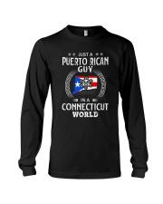 PUERTO RICAN GUY IN CONNECTICUT WORLD BLACK Long Sleeve Tee thumbnail