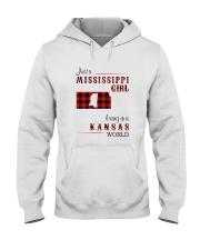 MISSISSIPPI GIRL LIVING IN KANSAS WORLD Hooded Sweatshirt thumbnail