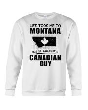 CANADIAN GUY LIFE TOOK TO MONTANA Crewneck Sweatshirt thumbnail