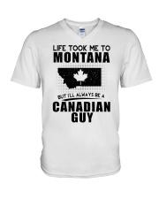 CANADIAN GUY LIFE TOOK TO MONTANA V-Neck T-Shirt thumbnail
