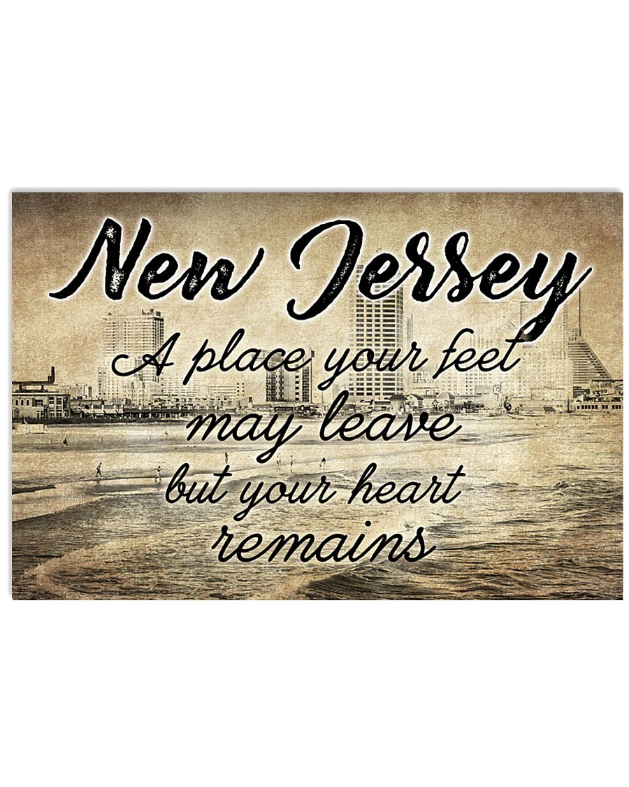 NEW JERSEY A PLACE YOUR HEART REMAINS 24x16 Poster