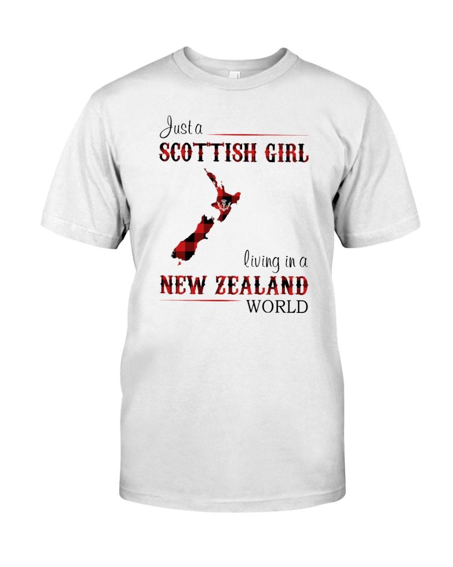 SCOTTISH GIRL LIVING IN NEW ZEALAND WORLD Classic T-Shirt