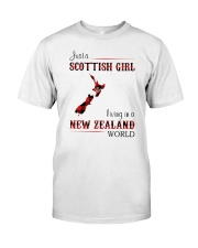 SCOTTISH GIRL LIVING IN NEW ZEALAND WORLD Classic T-Shirt front