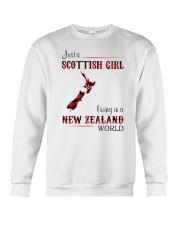 SCOTTISH GIRL LIVING IN NEW ZEALAND WORLD Crewneck Sweatshirt thumbnail