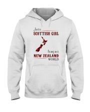 SCOTTISH GIRL LIVING IN NEW ZEALAND WORLD Hooded Sweatshirt thumbnail