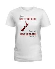 SCOTTISH GIRL LIVING IN NEW ZEALAND WORLD Ladies T-Shirt thumbnail