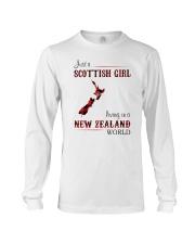 SCOTTISH GIRL LIVING IN NEW ZEALAND WORLD Long Sleeve Tee thumbnail