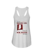 INDIANA GIRL LIVING IN NEW MEXICO WORLD Ladies Flowy Tank thumbnail
