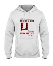INDIANA GIRL LIVING IN NEW MEXICO WORLD Hooded Sweatshirt thumbnail