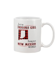 INDIANA GIRL LIVING IN NEW MEXICO WORLD Mug tile