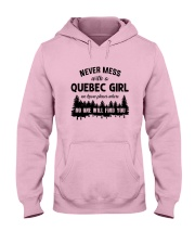 NEVER MESS WITH A QUEBEC GIRL Hooded Sweatshirt thumbnail