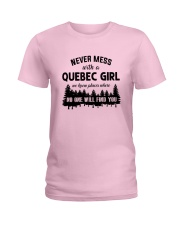 NEVER MESS WITH A QUEBEC GIRL Ladies T-Shirt front
