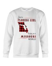 FLORIDA GIRL LIVING IN MISSOURI WORLD Crewneck Sweatshirt thumbnail