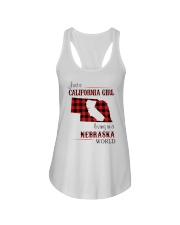 CALIFORNIA GIRL LIVING IN NEBRASKA WORLD Ladies Flowy Tank thumbnail