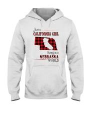 CALIFORNIA GIRL LIVING IN NEBRASKA WORLD Hooded Sweatshirt thumbnail