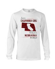 CALIFORNIA GIRL LIVING IN NEBRASKA WORLD Long Sleeve Tee thumbnail