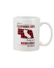 CALIFORNIA GIRL LIVING IN NEBRASKA WORLD Mug thumbnail