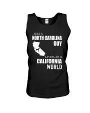 JUST A NORTH CAROLINA GUY LIVING IN CA WORLD Unisex Tank thumbnail
