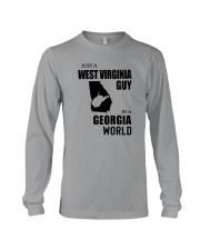 JUST A WEST VIRGINIA GUY IN A GEORGIA WORLD Long Sleeve Tee thumbnail