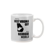 JUST A WEST VIRGINIA GUY IN A GEORGIA WORLD Mug thumbnail