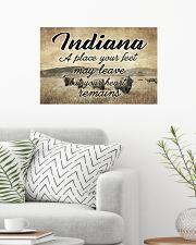 INDIANA YOUR HEART REMAINS 24x16 Poster poster-landscape-24x16-lifestyle-01