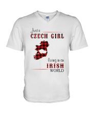 CZECH GIRL LIVING IN IRISH WORLD V-Neck T-Shirt thumbnail