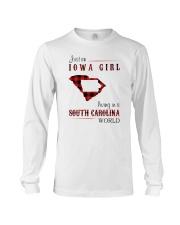 IOWA GIRL LIVING IN SOUTH CAROLINA WORLD Long Sleeve Tee thumbnail