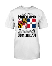LIVE IN MARYLAND BEGAN IN DOMINICAN ROOT WOMEN Classic T-Shirt tile