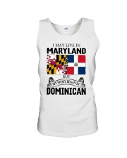 LIVE IN MARYLAND BEGAN IN DOMINICAN ROOT WOMEN Unisex Tank thumbnail