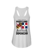 LIVE IN MARYLAND BEGAN IN DOMINICAN ROOT WOMEN Ladies Flowy Tank thumbnail