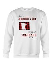 MINNESOTA GIRL LIVING IN COLORADO WORLD Crewneck Sweatshirt thumbnail