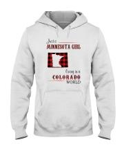 MINNESOTA GIRL LIVING IN COLORADO WORLD Hooded Sweatshirt thumbnail