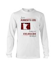 MINNESOTA GIRL LIVING IN COLORADO WORLD Long Sleeve Tee thumbnail