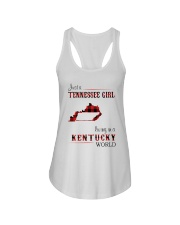 TENNESSEE GIRL LIVING IN KENTUCKY WORLD Ladies Flowy Tank thumbnail